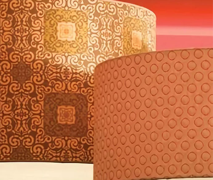 2 side by side lamp shades